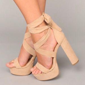 Fashion Nova Plot Twist Heel • Size 9, Like New